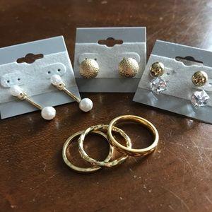 Gold Vermeil Ring & Earring Bundle!